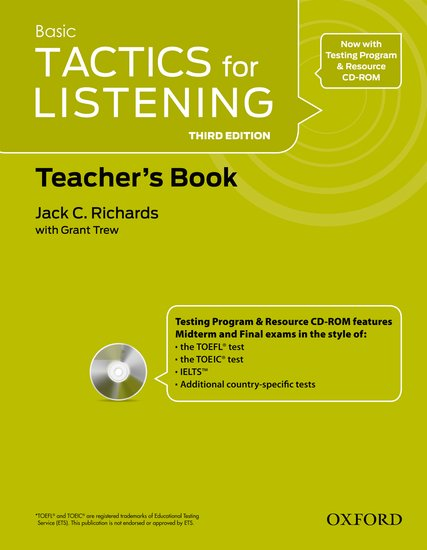 Basic Tactics for Listening Third Edition Teacher´s Book with Audio CD Pack