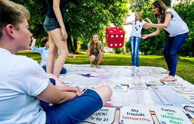 Guess the Present Tense: Outdoor Game